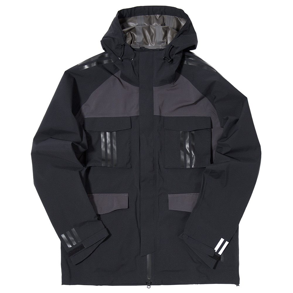 ADIDAS ORIGINALS BY WHITE MOUNTAINEERING SHELL GORE TEX JACKET BLACK