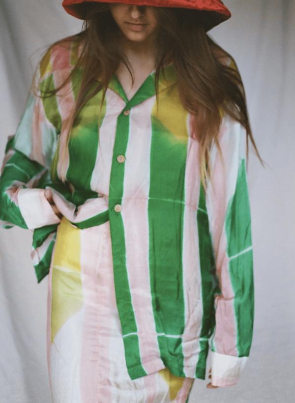 Clamp Die Silk Shirt