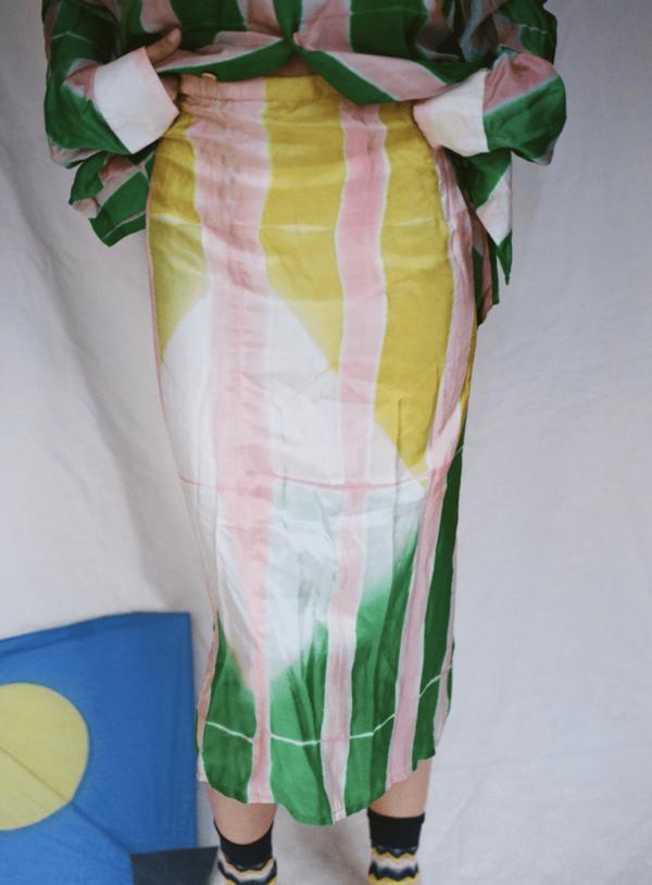 Clamp Die Silk Skirt