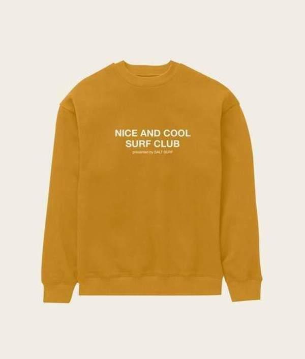Nice and Cool Surf Club Sweatshirt- Marigold