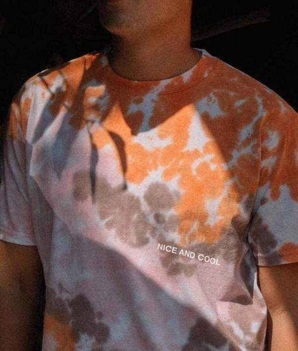 Nice and Cool Tri-Color Tie Dye tee