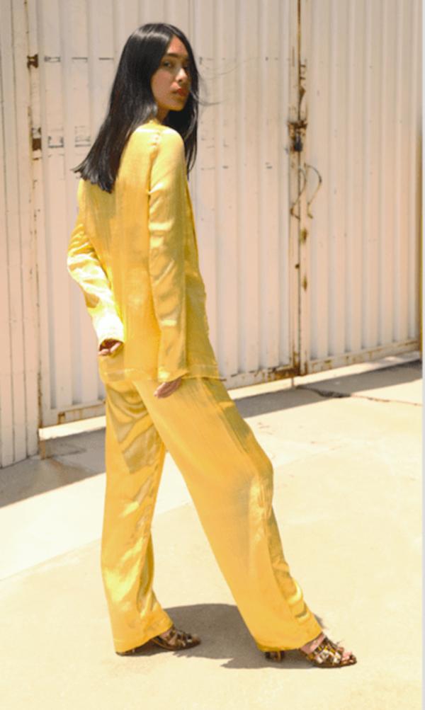 Silk Mashroo Boxing Pant Yellow