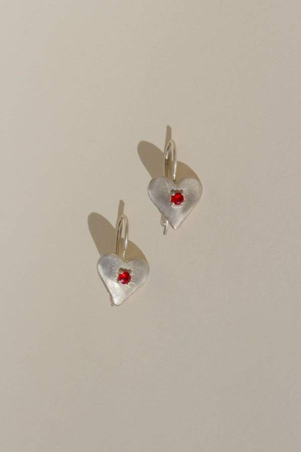 Sweetheart Earrings in Gold