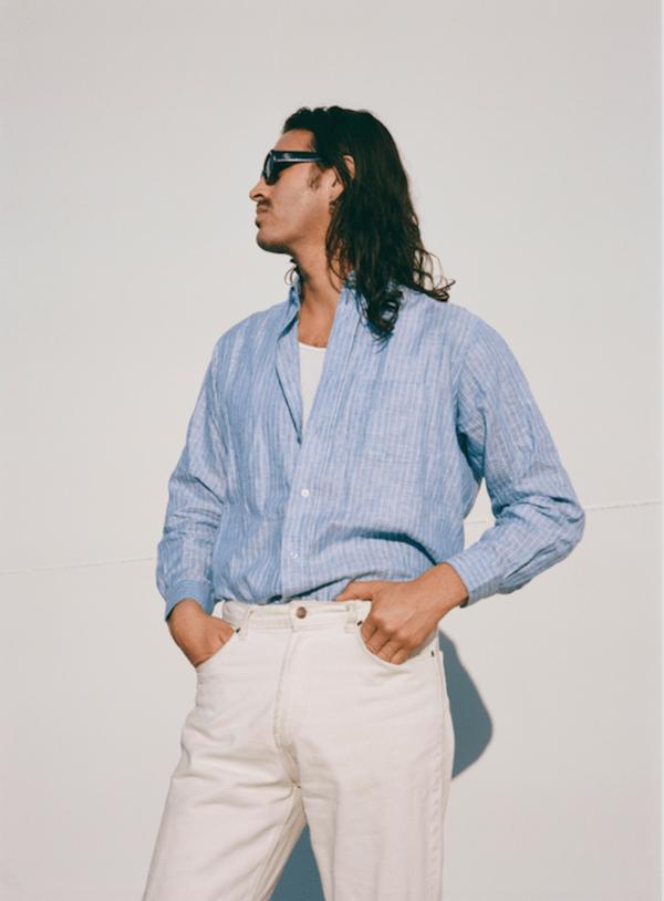 THE ONE Linen Shirt - Summer Sky