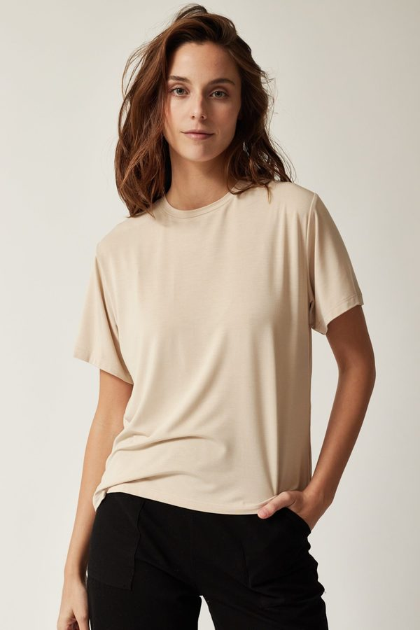 amt bamboo t-shirt - beige