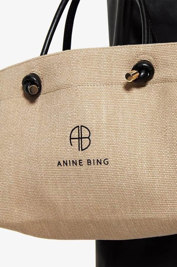 Anine Bing Mini Saffron Tote - Brown