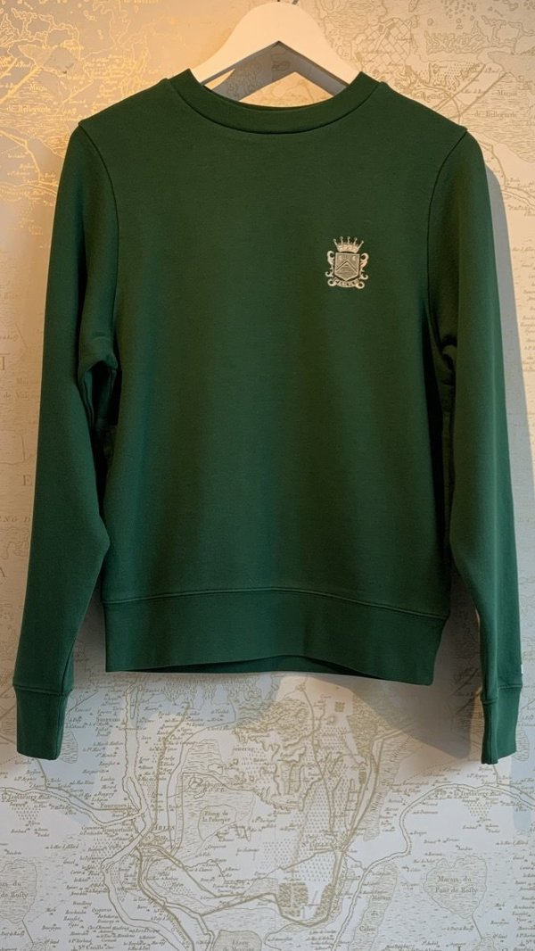FRAME Denim Carlyle Small Crest Sweatshirt - green