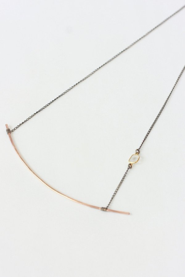 Alexis Russell Diamond Slice Ellipse Necklace