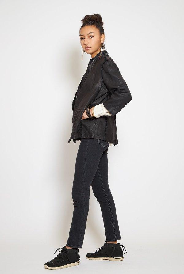 HAZEL BROWN Leather Blazer