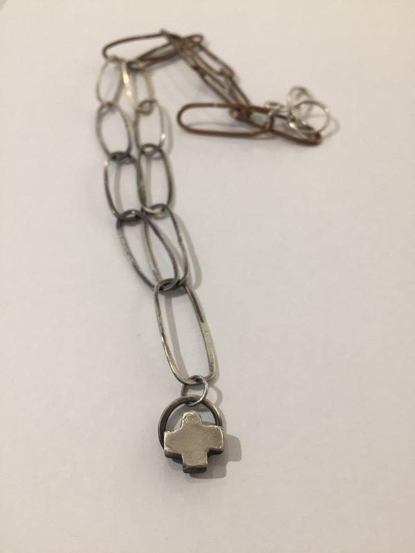 India Wysong Handcrafted Cross Pendant Necklace