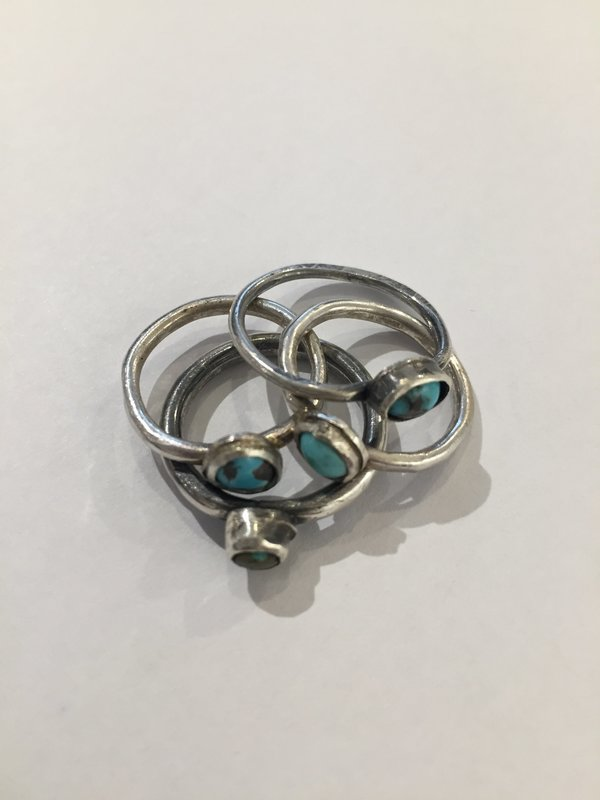 India Wysong Petite Turquoise Rings