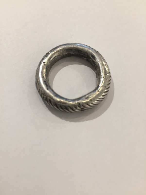India Wysong Sterling Silver Rope Textured Stacking Ring