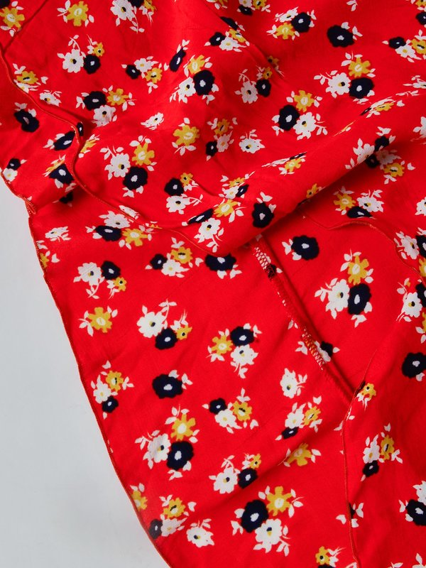 CELESTE WRAP SKIRT_RED