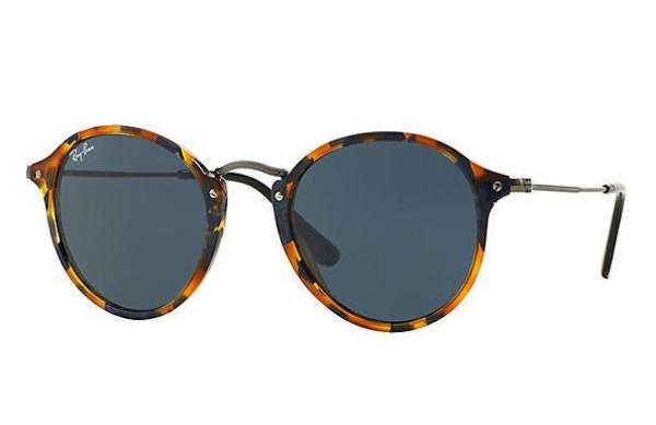 RB 2447 1158R5 SPOTTED BLUE HAVANA _ Bue 49 SIZE