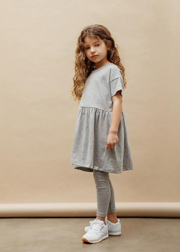 Kids Petits Vilains Martine T-Shirt Dress - Green Tea