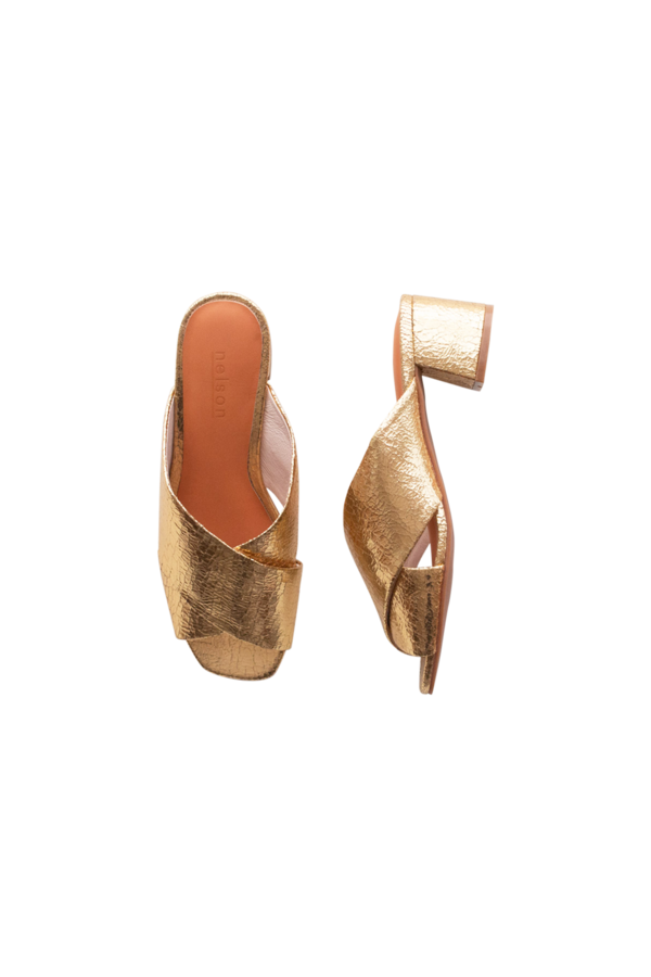 Tess Sandal Gold | Sample