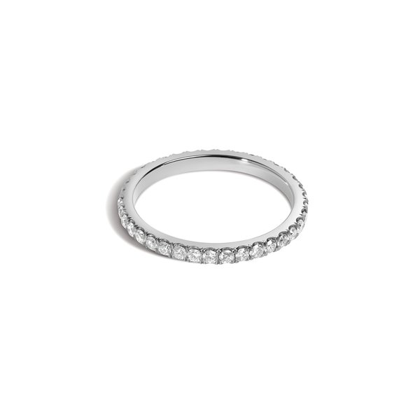 1.8mm Scoop-Set Eternity Band with White Diamonds - NEW