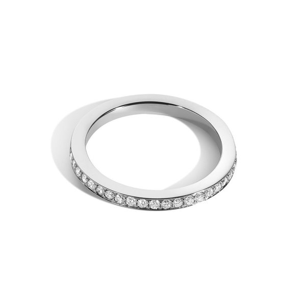 2mm Bright-Cut Eternity Band with White Diamonds - NEW