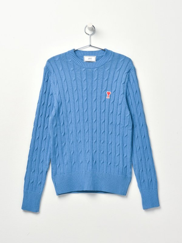 CABLE STITCH SWEATER_BLUE/400