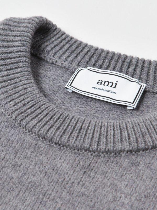 PULL AMI COEUR_HEATHER GREY/055