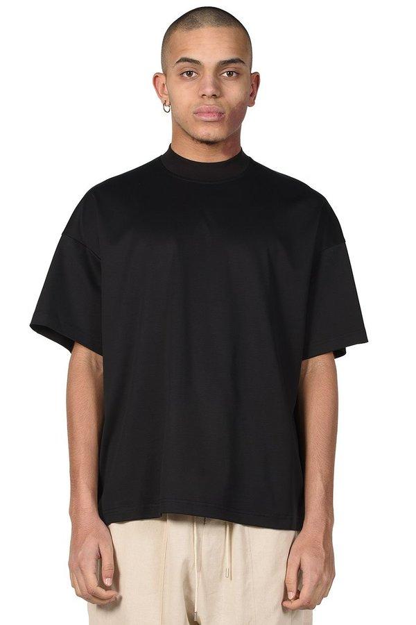 JOE CHIA Mock Neck T-shirt - Black