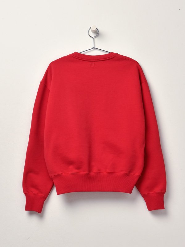SWEATSHIRT WITH OVERSIZE AMI DE COEUR_ROUGE/600