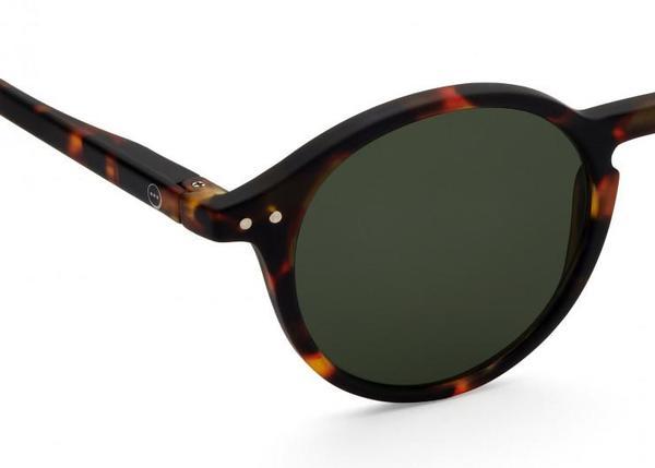 Izipizi Sunglasses #D eyewear - Tortoise/Green Lenses