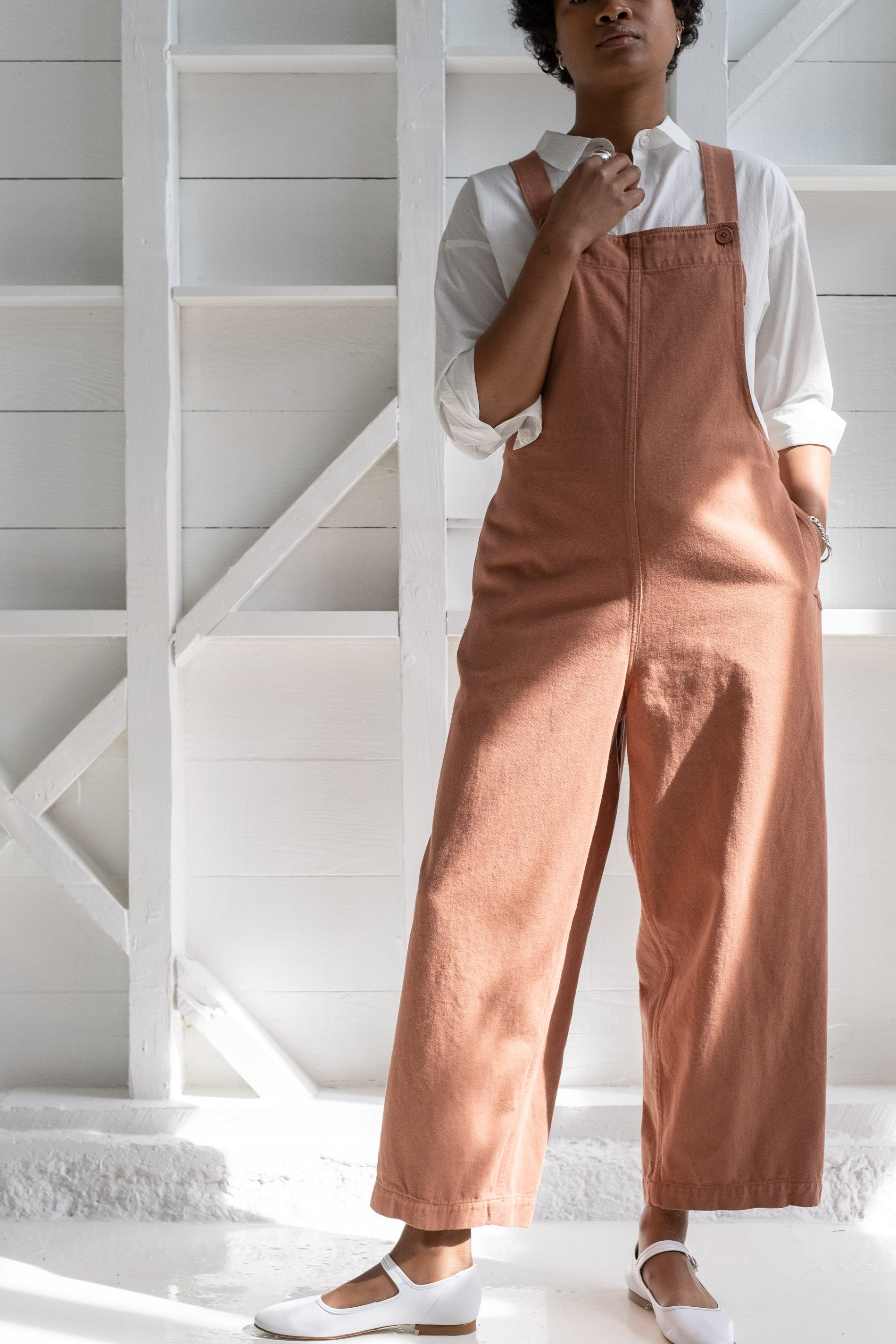 Vintage Overalls & Jumpsuits Reliquary THE OVERALL jumpsuit - RUST $250.00 AT vintagedancer.com