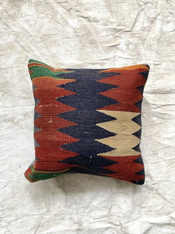 Cuttalossa & Co. Zig Zag Kilim Throw Pillow