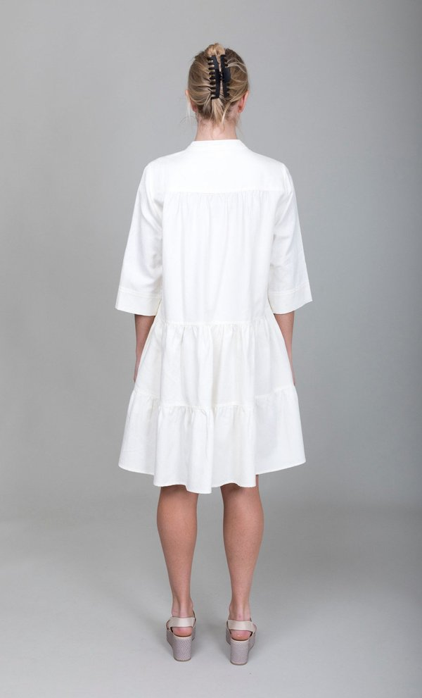 Apiece Apart Maurino Drop Waist Mini dress - Cream