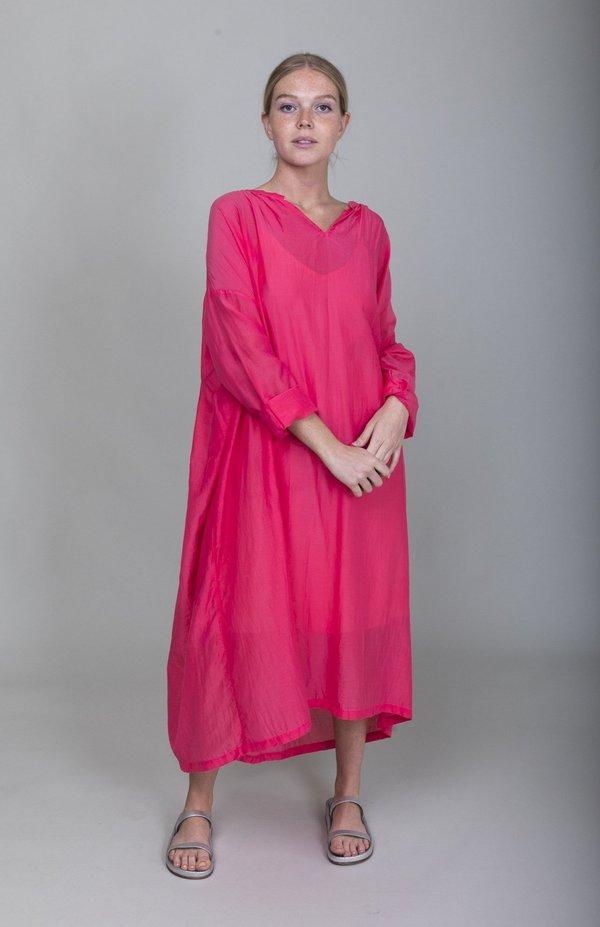 ICHI ANTIQUITES Silk Long Azumadaki Dress - Pink