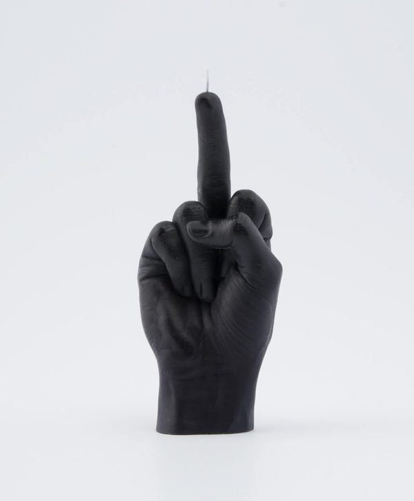 candle hand F*CK YOU! - black