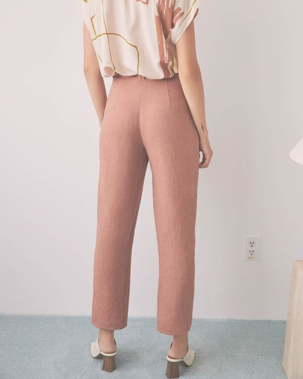 Eve Gravel Saturne Pants - Blush