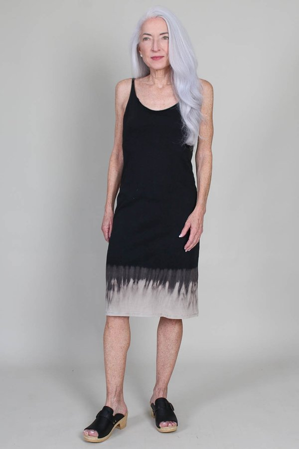 Raquel Allegra Layering Tank Dress - Black Horizon Tie Dye