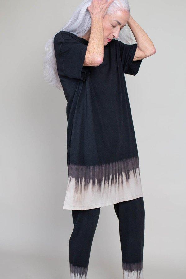 Raquel Allegra T-shirt Dress - Black Horizon Tie Dye