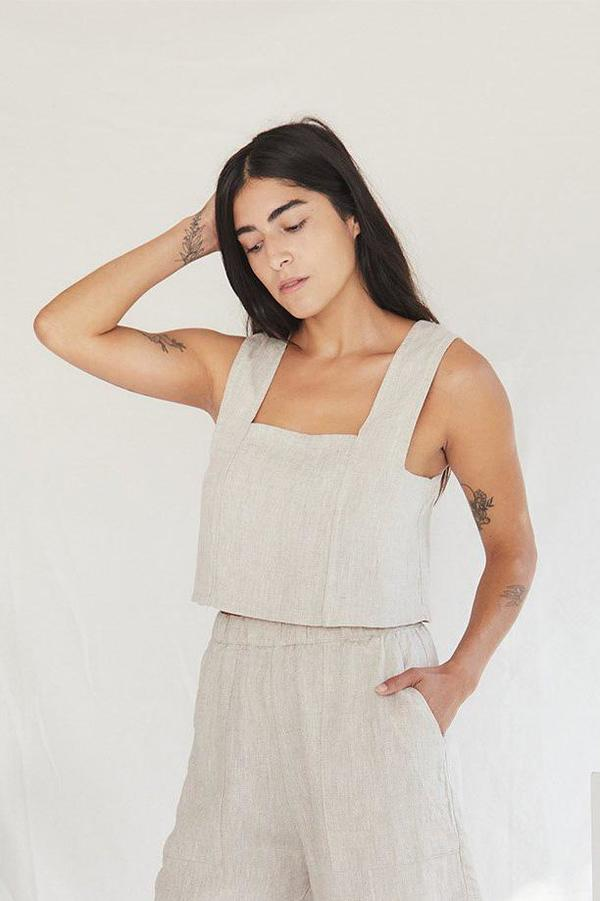 Pansy Top - Flax