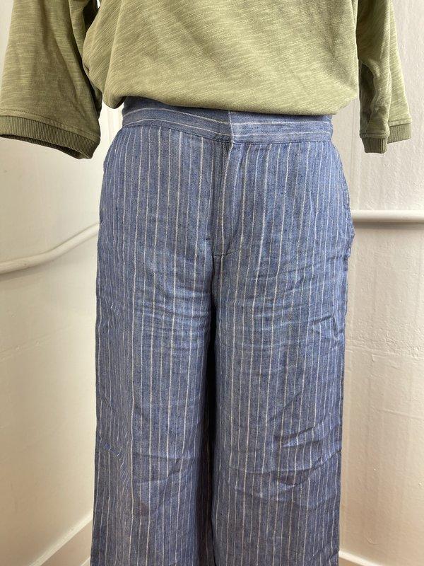 Brochu Walker Pinstripe Linen Trouser (S)