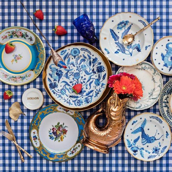 Blue Flower Deep Plate