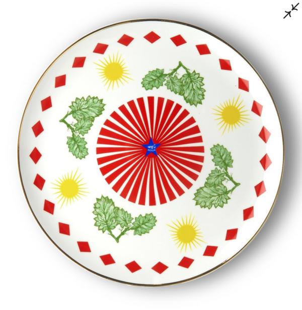Leaves Round Platter