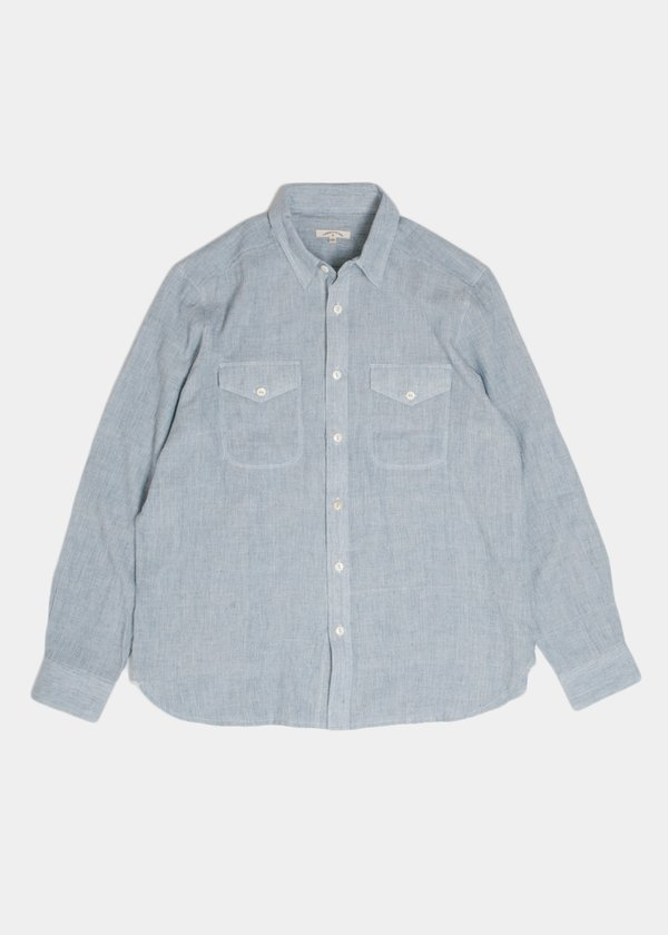 Work Shirt in Lt Indigo Gauze