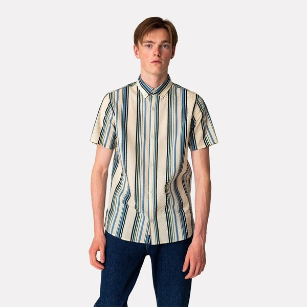 RVLT Ss Button Down - Off White