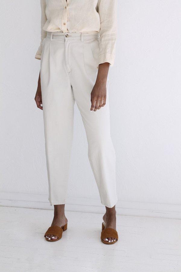 Vintage Chic Pleated Khakis