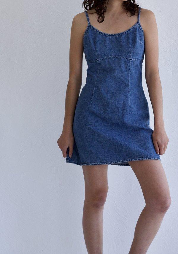 Denim Mini Dress | Vintage