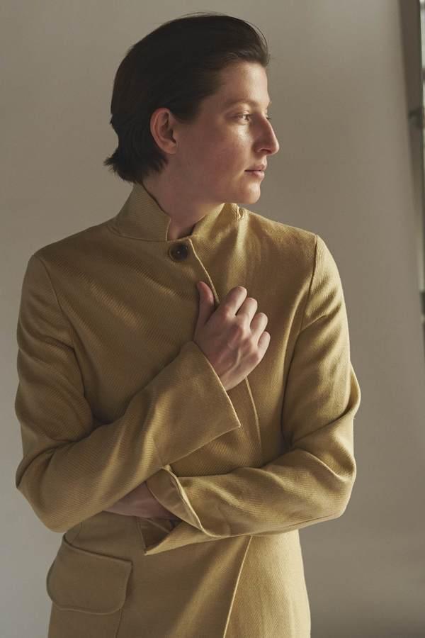 KES Full Length Linen/Silk Coat - Desert (Pre-Order)