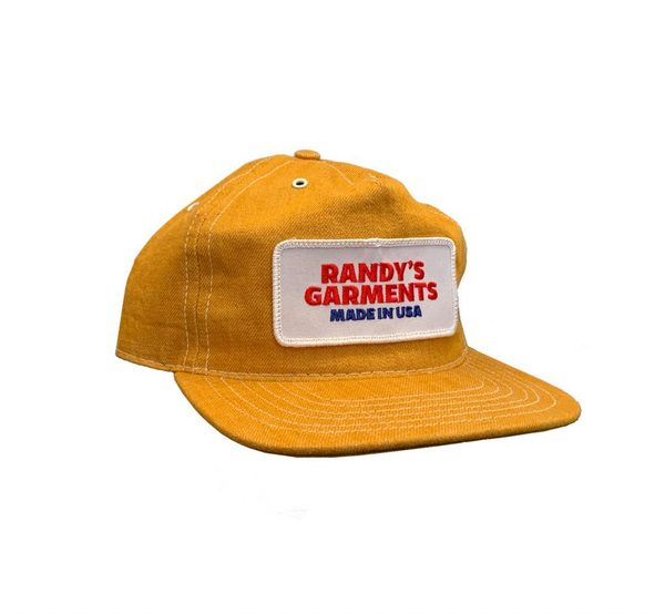Randy's Garments Low Profile Trucker Hat - Industrial Yellow Denim