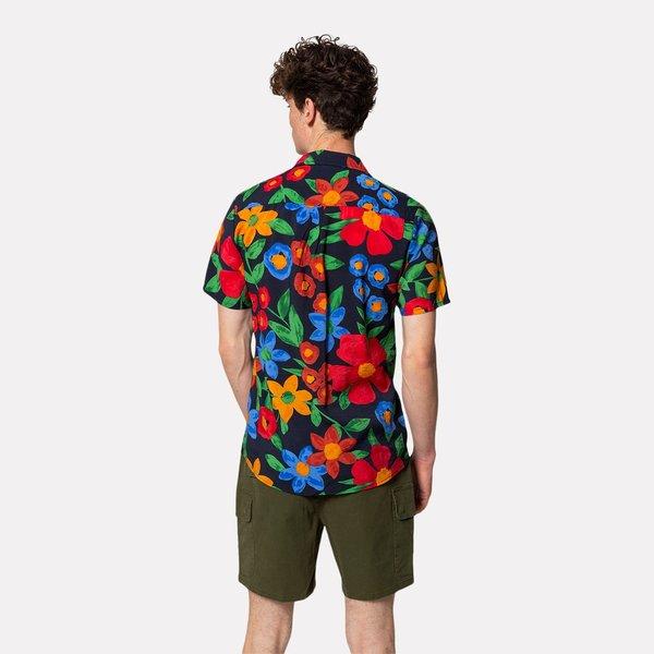 RVLT Short Sleeved Cuban Shirt - Navy