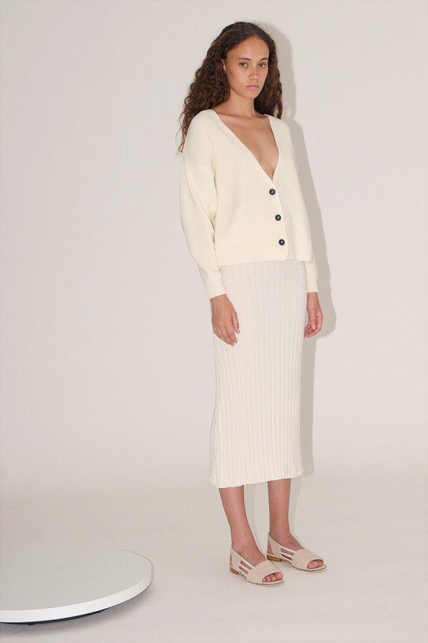 nova cardigan in white