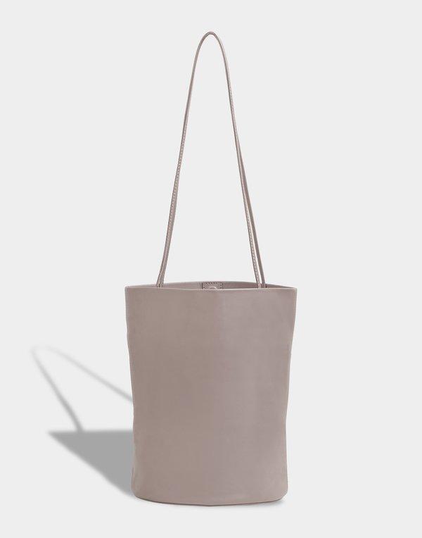 Modern Weaving Lamb Oval Bucket - Dove Grey