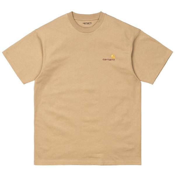 S/S American Script T-Shirt 'Dusty Hamilton Brown'