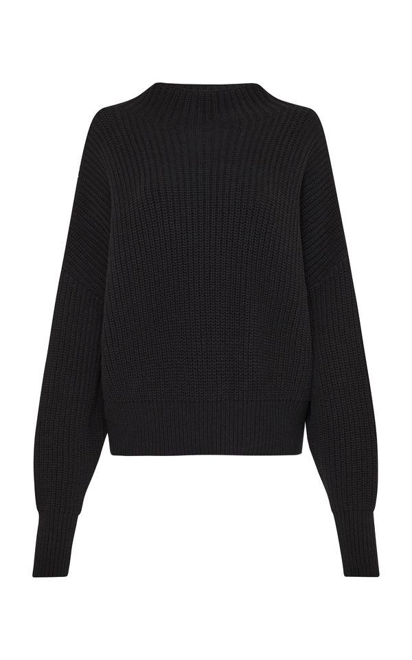 St. Agni Jorn Fisherman Knit Jumper - Black
